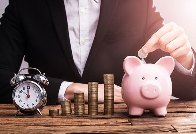 Zeit ist Geld, sparen Sie Zeit